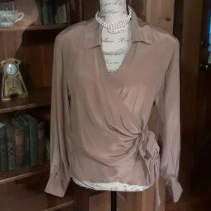 VINTAGE Diane Von Furstenberg silk wrap top